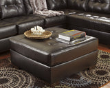 Alliston DuraBlend Oversized Accent Ottoman -  Chocolate