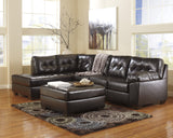 Alliston DuraBlend Chaise Sectional - Chocolate