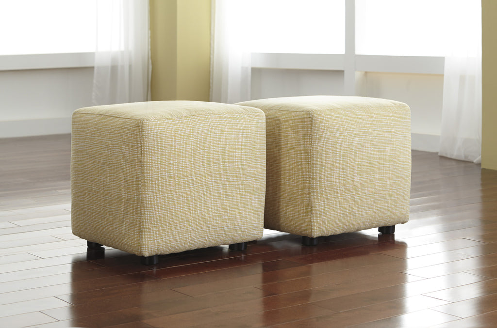 Chamberly Accent Cube Ottomans (Set of 2) -  Buttercup