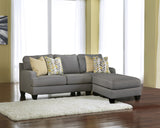 Chamberly Chaise Sofa - Alloy