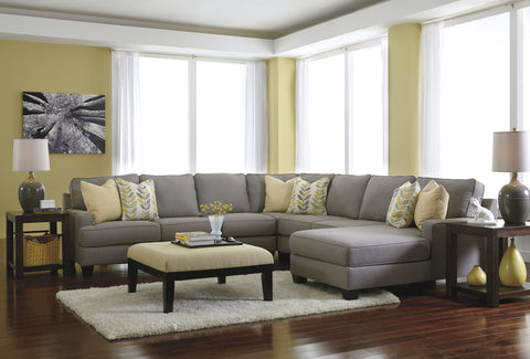 Chamberly Chaise Sectional Large - Alloy