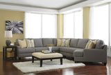 Chamberly Large Cuddler Sectional - Alloy