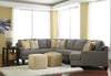 Chamberly Small Cuddler Sectional - Alloy