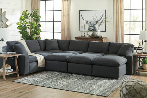Savesto Large Sectional - Charcoal