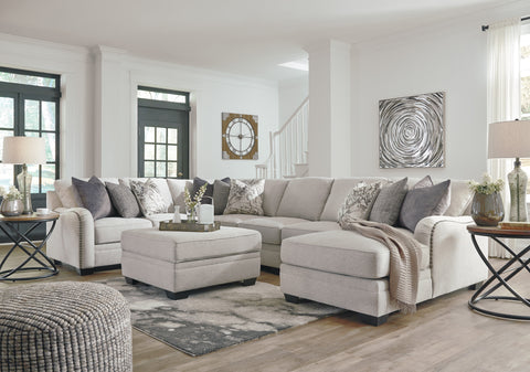 Dellara Large Chaise Sectional - Chalk