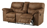 Boxberg Double Reclining Power Loveseat with Storage - Bark