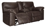 Boxberg Double Reclining Loveseat with Storage - Teak