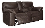 Boxberg Double Reclining Power Loveseat with Storage - Teak