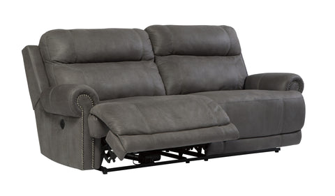 Austere 2 Seat Reclining Power Sofa - Grey