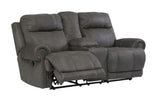 Austere Double Reclining Power Loveseat with Storage - Grey