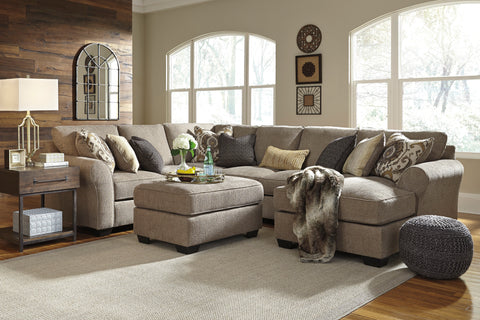 Pantomine Small Chaise Sectional - Driftwood