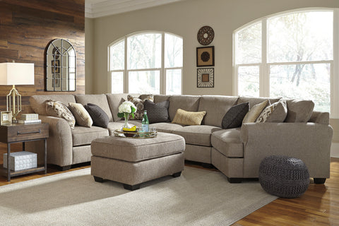 Pantomine Small Cuddler Sectional - Driftwood