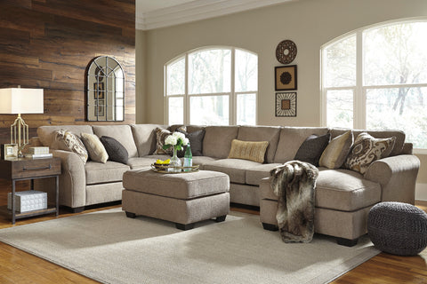 Pantomine Long Chaise Sectional - Driftwood