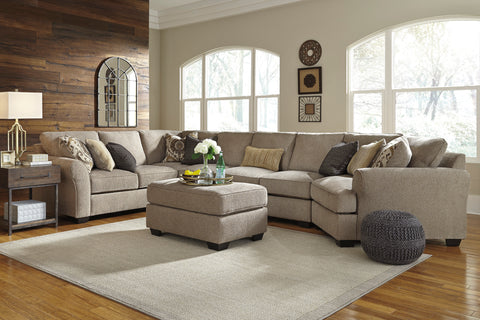 Pantomine Long Cuddler Sectional - Driftwood