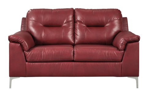 Tensas Loveseat - Crimson