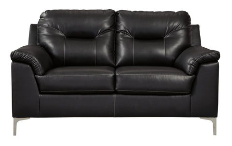 Tensas Loveseat - Black
