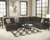 Jessa Place Chaise Sectional - Chocolate