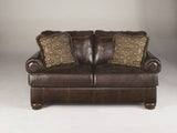 Axiom Loveseat - Walnut
