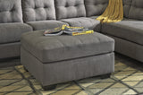 Maier Oversized Accent Ottoman - Charcoal