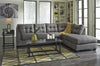 Maier Full Sofa Bed w/ Chaise - Charcoal