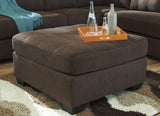 Maier Oversized Accent Ottoman - Walnut