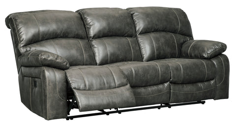 Dunwell Power Reclining Sofa W/Adjustable Headrest - Steel