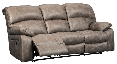 Dunwell Power Reclining Sofa W/Adjustable Headrest - Driftwood