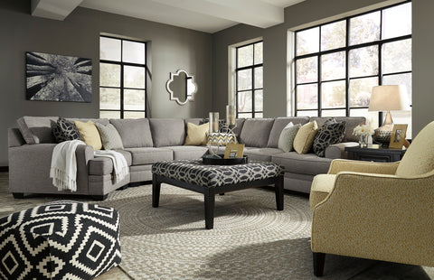 Cresson Large Cuddler Sectional - Pewter