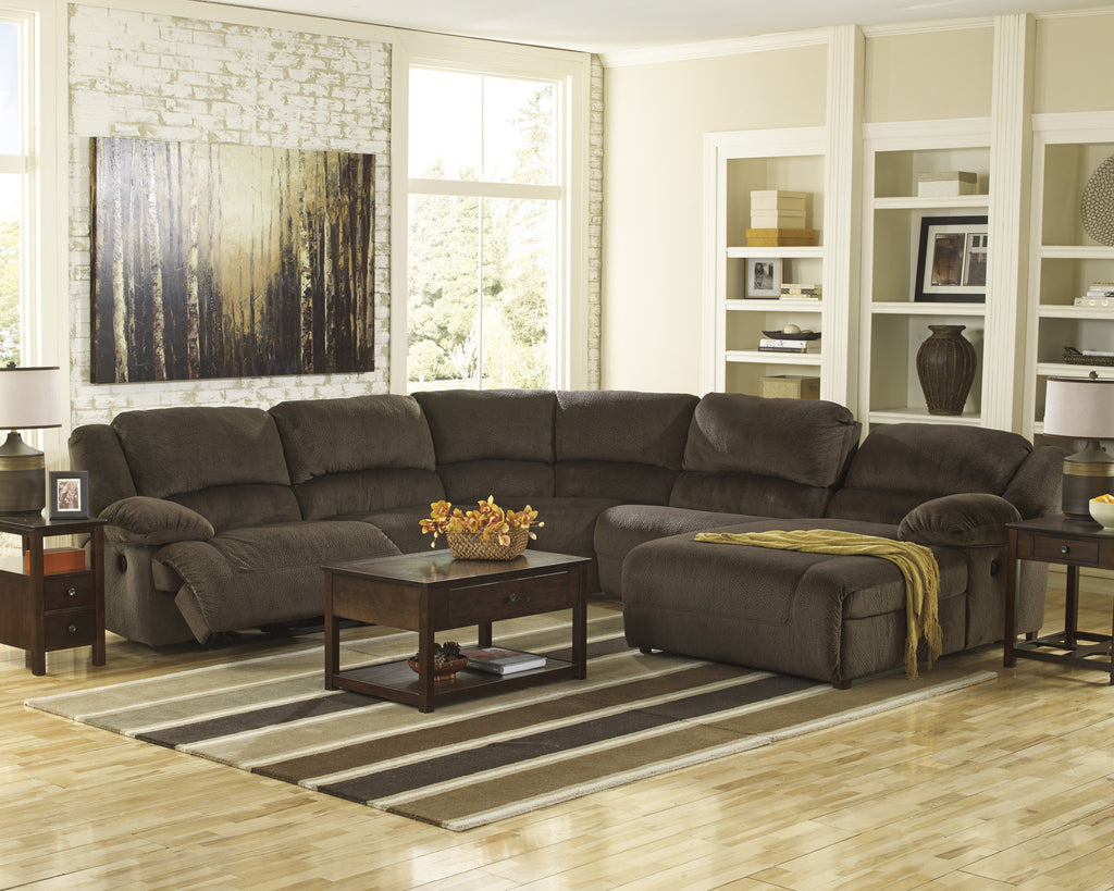 Toletta Small Chaise Sectional - Chocolate
