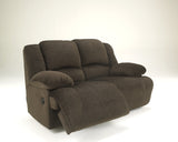 Toletta Reclining Power Loveseat - Chocolate