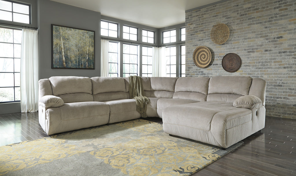 Toletta Small Chaise Sectional - Granite