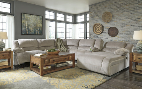 Toletta Console Sectional with Chaise - Granite
