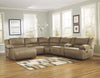 Hogan Reclining Chaise Sectional - Mocha