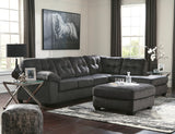 Accrington Chaise Sectional - Granite