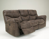 Alzena Reclining Sofa - Gunsmoke