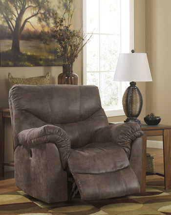 Alzena Power Rocker Recliner - Gunsmoke