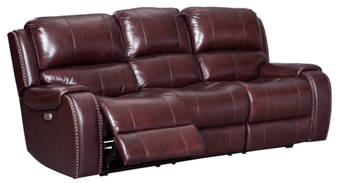 Gilmanton Power Reclining Sofa W/Adjustable Headrest - Burgundy