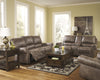 Oberson Double Reclining Power Loveseat with Storage - Gunsmoke