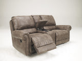 Oberson Double Reclining Loveseat with Storage - Gunsmoke