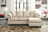 Darcy Chaise Sofa - Stone