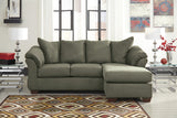 Darcy Chaise Sofa Bed - Sage