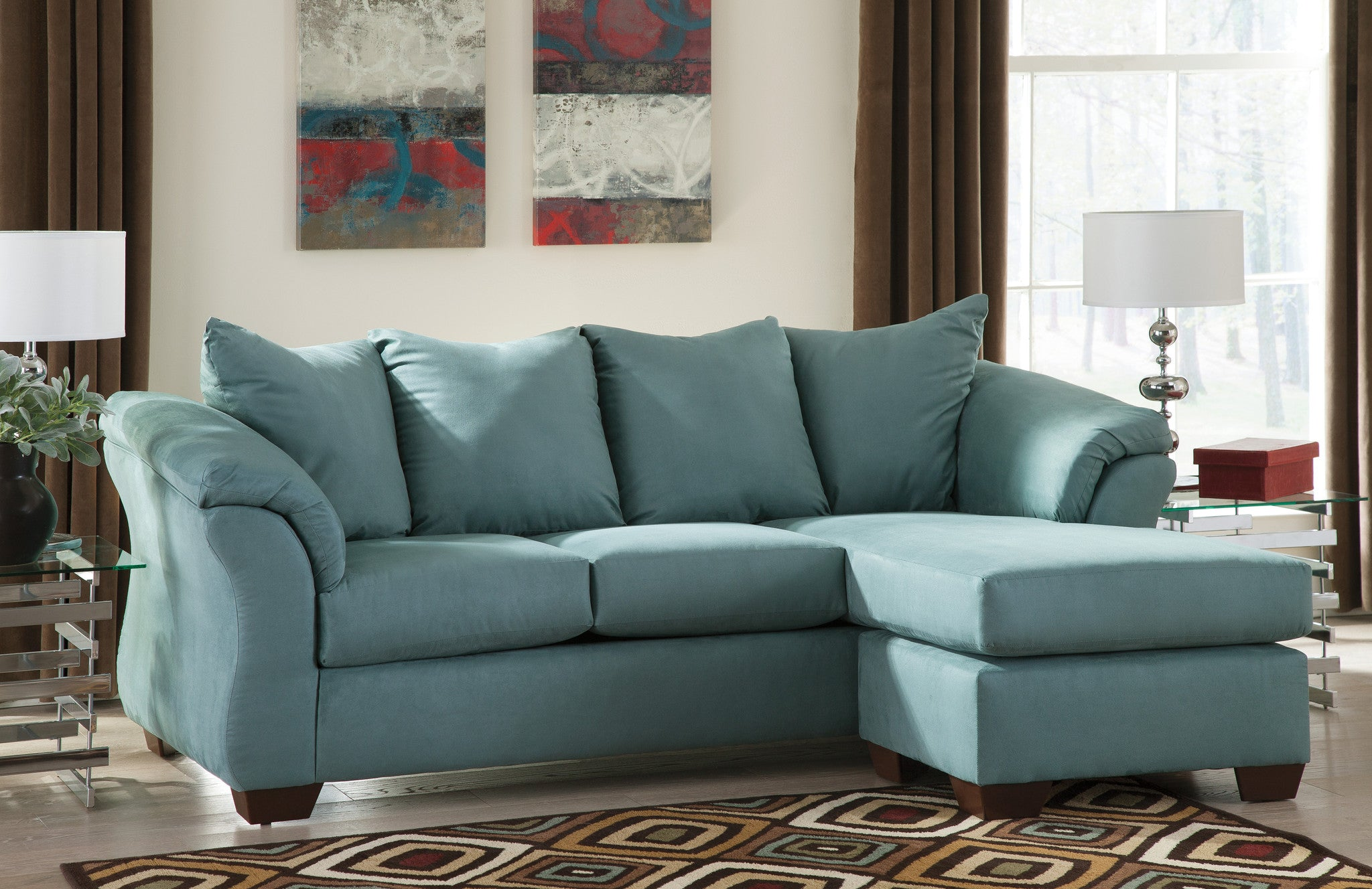 Outstanding Darcy Chaise Sofa Sky Ibusinesslaw Wood Chair Design Ideas Ibusinesslaworg