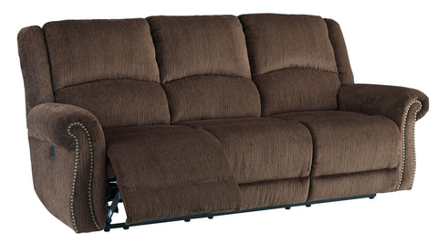 Goodlow Power Reclining Sofa W/Adjustable Headrest - Chocolate