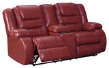 Vacherie Double Reclining Loveseat with Storage - Salsa