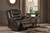 Vacherie Rocker Recliner - Chocolate