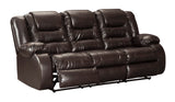 Vacherie Reclining Sofa - Chocolate