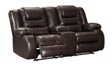 Vacherie Double Reclining Loveseat with Storage - Chocolate