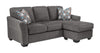 Brise Queen Chaise Sofa Bed - Slate
