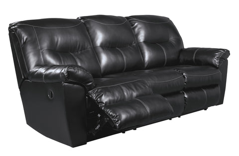 Kilzer DuraBlend Reclining Sofa - Black