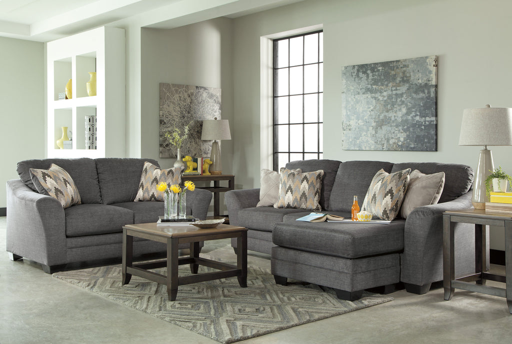 Pleasant Braxlin Sofa Chaise Charcoal Onthecornerstone Fun Painted Chair Ideas Images Onthecornerstoneorg